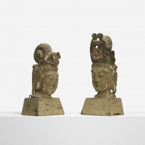 Selected By Samuel Marx, Pair Of Buddhas