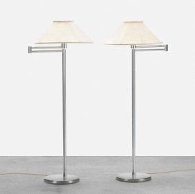 Walter Von Nessen, Pair Of Floor Lamps