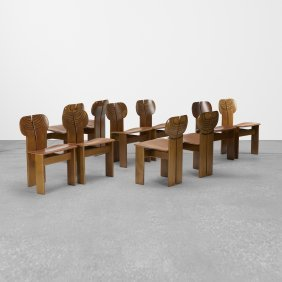 Afra & Tobia Scarpa, Set Of Ten Africa Chairs