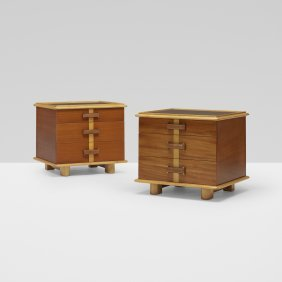 Paul Frankl, Pair Of Nightstands