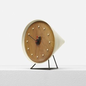 George Nelson & Associates, Cone Table Clock 2218a