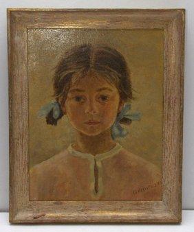 M. Mineuzza Painting Of Girl