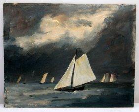 Port Jefferson Artist, Louis Lehtonen Oil Painting