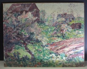 Signed Oil Painting On Board