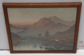 G. Ward 19th C. Oil Painting On Canvas