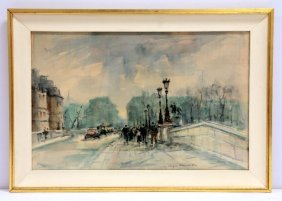 Roualt Georges-dominique Parisian Watercolor