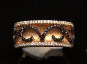 18 Kt. Rg & Dia Black & White Dia Ring