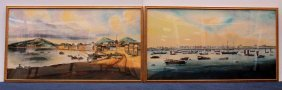 Two Chinese Trade Watercolors