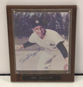 Phil Rizzuto Framed Autographed Picture