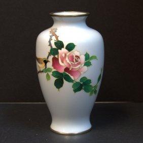 Japanese Cloisonne Light Blue Vase