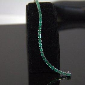 18kt Yg 7.58 Ct Emerald Bracelet
