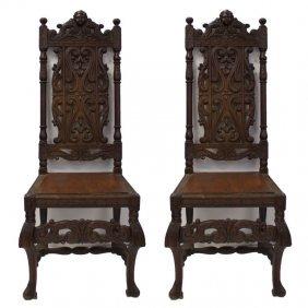 Pair Of Antique Louis Xv Style Renaissance Chairs