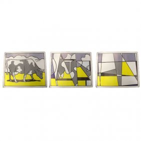 Roy Lichtenstein Cow Triptych
