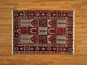 Wool Semi Antique Persian Bakhtiari Handmade Rug
