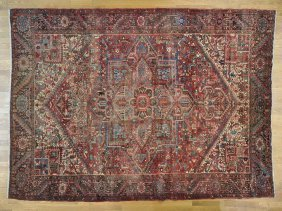 Semi Antique Persian Heriz Exc Cond Handmade Rug