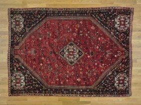 Semi Antique Persian Shiraz Pure Wool Handmade Rug