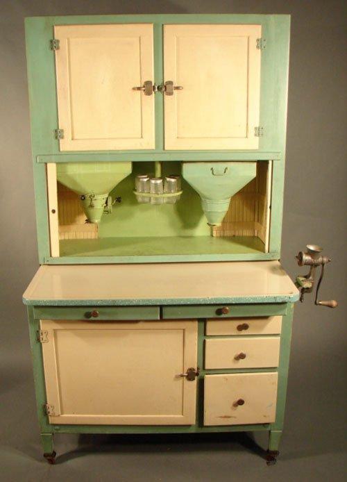 11187 Hoosier Cabinet With Enamel Work Surface Meat G