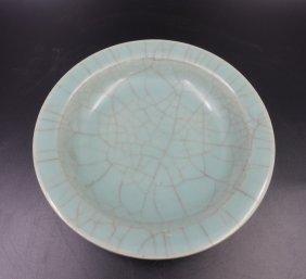 Chinese Yuan Dynasty Longquan Celadon Glazed Plate
