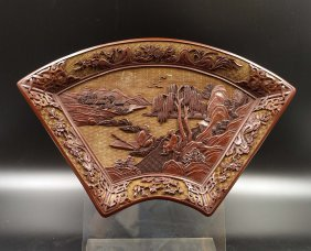 Chinese Qing Cinnabar Lacquer Tray