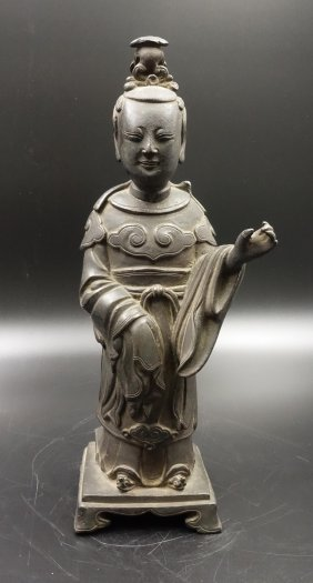 Chinese Ming Dynasty Bronze Figure Of Immortal