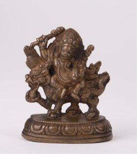 Tibetan Bronze Figure Of A Deity