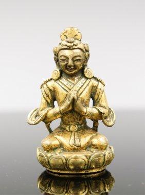 18th Century Gilt Bronze Buddha