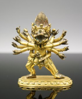 18th Century Tibetan Gilt Bronze Buddha