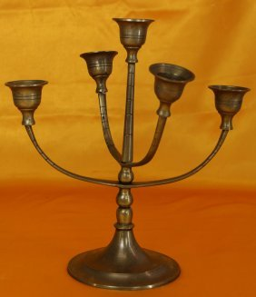 A Antique Brone Candle Holders