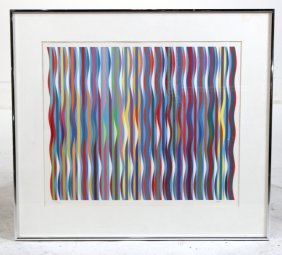 Abstract Lithograph, Yaacov Agam