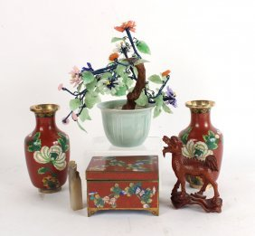 Group Of Cloisonne Table Articles