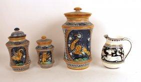 Italian Ceramic Three Piece Canister Set