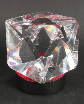 "Steuben ""triangles"" Glass Sculpture"