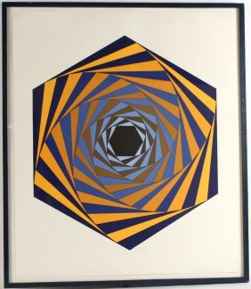 Screen Print, Abstract, Victor Vasarely