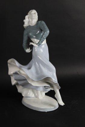 Porcelain Figure Of A Dancing Girl