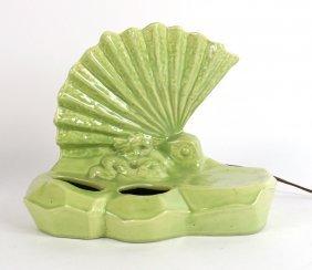 Art Deco Green Ceramic Table Lantern