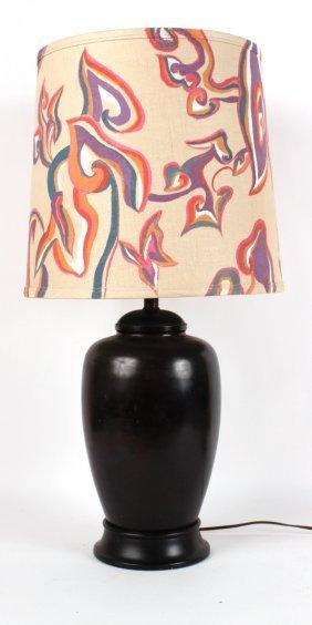 Modern Patinated Metal Baluster Form Lamp