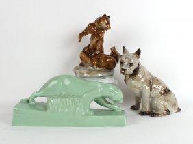 Three Ceramic Animal Figures