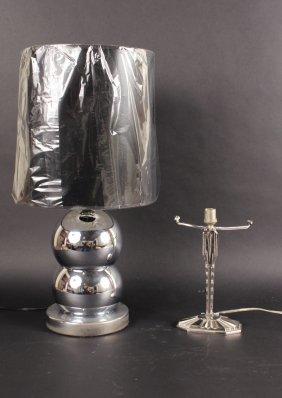 Modern Chrome Ball Form Table Lamp