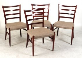 Four Art Deco Mahogany Dining Chairs