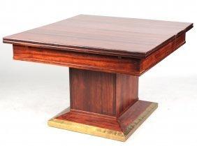 Art Deco Mahogany Extension Dining Table