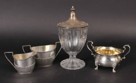 Gorham Sterling Silver Open Sugar Bowl &cream Jug