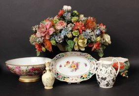 Two Limoges Porcelain Footed Bowls