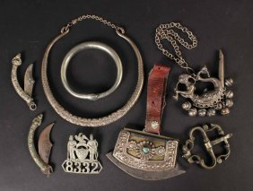 Group Of Native American & Middle Eastern Jewelry