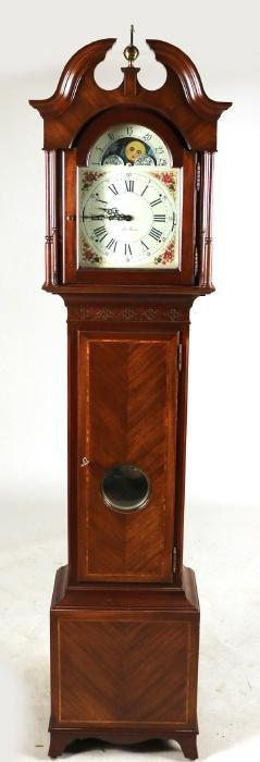 Seth Thomas Inlaid Mahogany Tall Case Clock