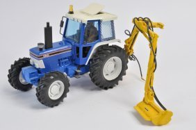 Scarce 1/32 D Goodwin Ford 5610 Tractor With Hedge