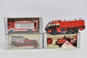 Group Of Conrad 1/50 Fire Vehicles. Nm To M. (4)