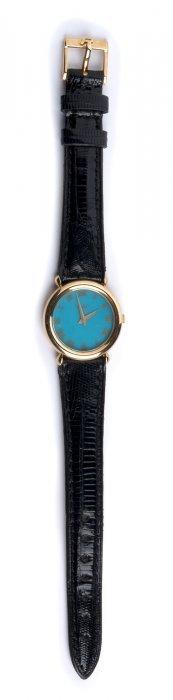 A Ladies 18k Gold Quartz Wristwatch, By Piaget -