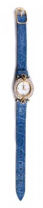 An 18k Gold Ladies Quartz Wristwatch, By Baume &