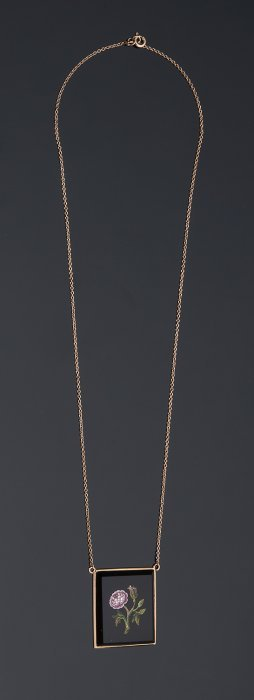 18k Yellow Gold Necklace With An 19th Century Italian