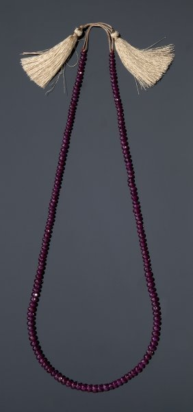 Glassfilled Ruby Necklace